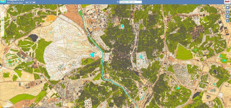 Visor cartográfico MAPANT para mapas de orientación