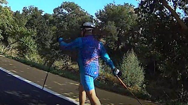 RollerSki clásico. Anillo verde ciclista. km 46 a 48,5