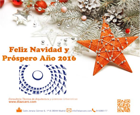 Felices fiestas y próspero 2016