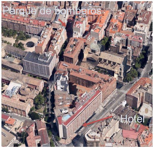 Incendio edificio en altura. El hotel Corona de Aragón